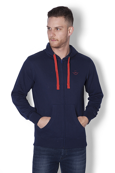 Classic  Zipper  Hooded Sweat Shirt