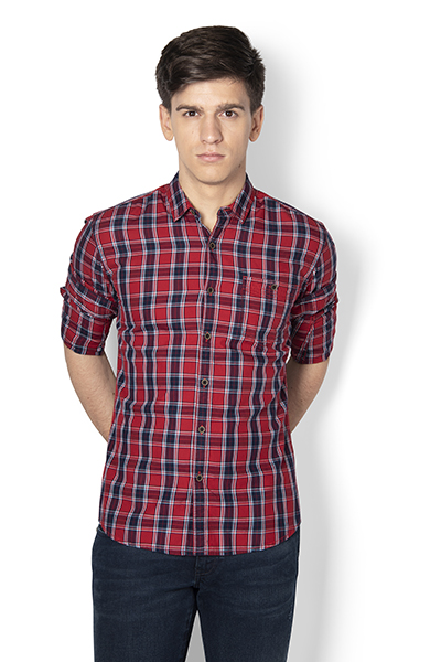 Karl Y/d Check Herringbone Shirt